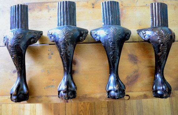 Sale Antique Chair Legs Chippendale Claw Foot Ball Claw Set