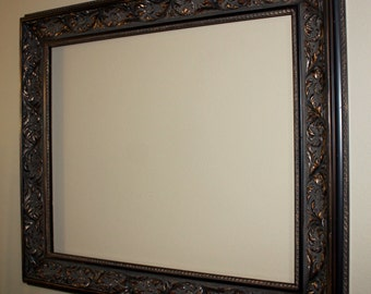 hand antiqued large vintage picture frame gold and copper accents