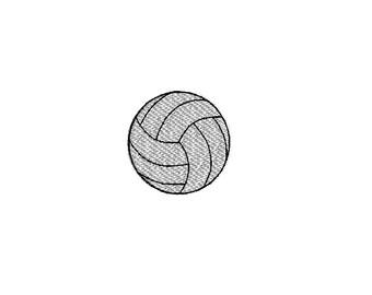 Mini VolleyBall Machine Embroidery Design-INSTANT DOWNLOAD