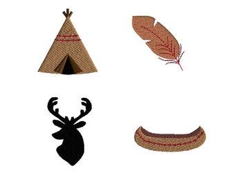 Mini Tribal Machine Embroidery Design Set-INSTANT DOWNLOAD