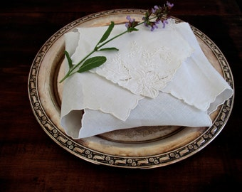 Embroidered sandwich cloth ~ keep your watercress sandwiches fresh in Victorian style