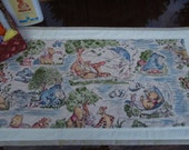 Quilted Winnie the Pooh and Friends Dresser Scarf for Baby/Stroller Blanket/Wall Hanging/Table Topper/Quilt