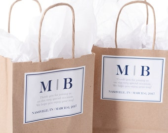 Hotel Wedding Welcome Bags - 50 Out of Town Welcome Bags - Hotel Wedding Bags - Personalized Wedding Favor Bags
