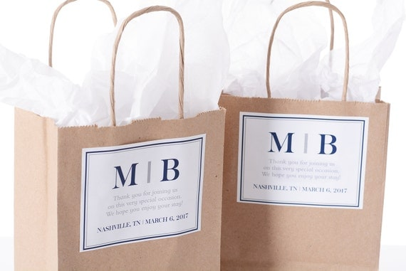 25 Hotel Wedding Welcome Bags - 25 Out of Town Welcome Bags - Hotel ...