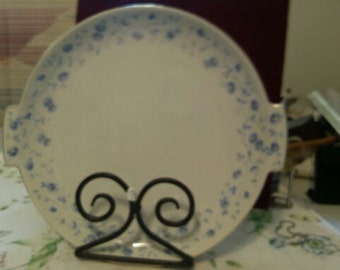 German pre WW11 Blue Daisy Cake or Pie Plate