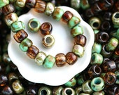 10g Toho Seed Beads Mix - Aged Turquoise - MayaHoney Special Mix, 6/0 size, topaz, hybrid rocailles - S1020