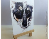 Art Trading Card - DOG Painting - | Lilly | ACEO Fine Art Print - Miniature Print -Animal Art, Dog - Art - Animal Lover - Unique Gift - ATC