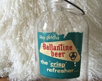 Ballantine Beer Glass Jar