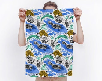 Special Edition Togetherness Design x Melbourne Museum Illustrated Tea Towel - hang as a banner or use in your kitchen!