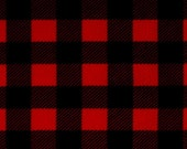 Ready to Ship: Mountain Lodge Red Black Buffalo Check and Minky Blanket- Hunting, Lodge, Plaid
