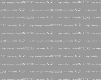 I Count Antlers Fitted Crib Sheet - Woodland