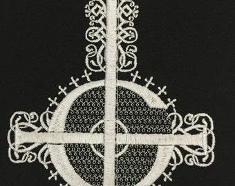 Papa emeritus embroidered motifs