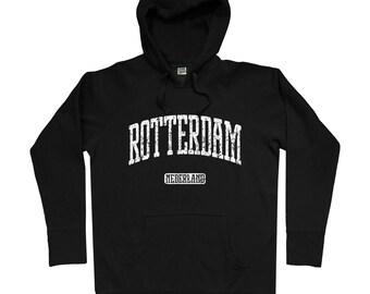 Rotterdam Hoodie - Men S M L XL 2x 3x - Rotterdam Netherlands Hoody, Sweatshirt, Holland, Dutch - 4 Colors