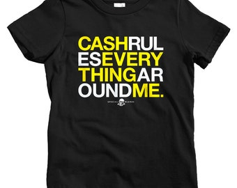 Kids C.R.E.A.M. T-shirt - Baby, Toddler, and Youth Sizes - Cash Rules Tee, Rap, DJ, Hip Hop Music - 3 Colors