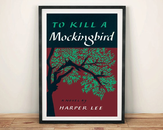 Book Cover Wall Art ~ To kill a mockingbird poster vintage book cover art print