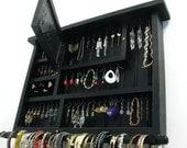 Distressed Black jewelry display