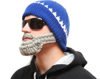 Bearded hats - Hats with beards, Beard beanie, Beard Hat, beard head, beardhead, knitted beard, crochet beard hat, beanie beard, beard cap