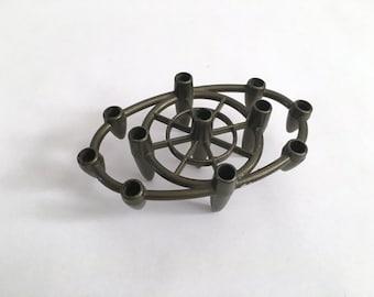 Atomic Taper Candle Holder - Metal - Vintage - Space Age - Rocket - Bullet - Orbit