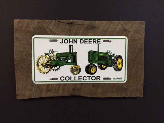 John Deere Ledger Plates : Items similar to rustic john deere license plate sign on etsy