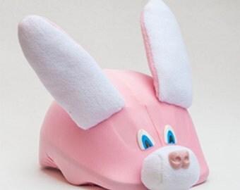 SALE! Little Bunny kid size ski helmet cover, valentine's gift, snowboard helmet cover, couvre casque ski, gift for kid, gift for girl