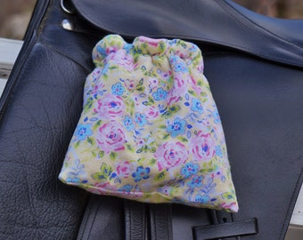 Ready to Ship - Pastel Roses Reversible Stirrup Covers