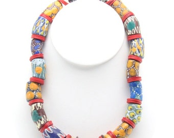 Senegal African Trade Bead Necklace
