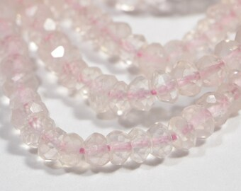 """Rose Quartz 6 3/4"""" inch Strand Faceted Teardrop Beads Natural Gemstone Beads Jewelry Making Supplies"""