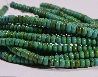 Turquoise Half Strand Beads 4.1x2.4 mm Natural Gemstone Beads Jewelry Making Supplies