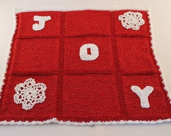 Joy Knit Blanket / Toddler Afghan / Lapaghan / Throw