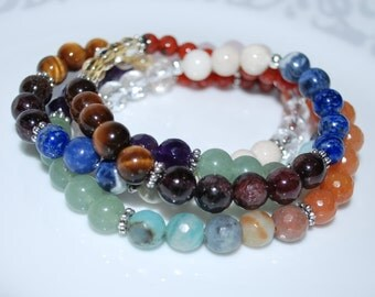 Multi Healing Crystal Necklace, Multi Gemstone Necklace, Men Necklace, Unisex Necklace