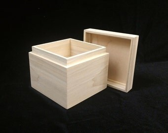 Unfinished Wooden Soap Mold-Cold Process Soap-0-1 lb Soap Mold-Soap Making Supplies