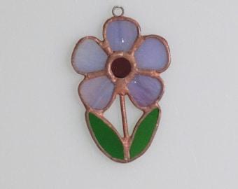 Stained Glass Purple Flower Suncatcher (small)