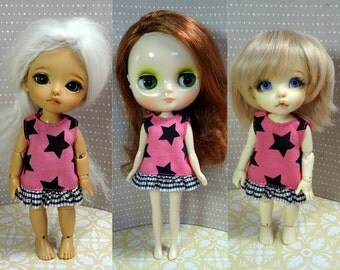 Black stars dress for Lati Yellow/ Middie Blythe/ Pukifee doll