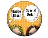 Special order - 25 custom order baby Shower badges