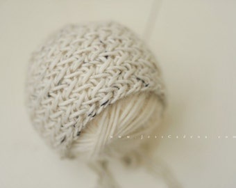 Herringbone Knit Newborn Bonnet Photography Prop