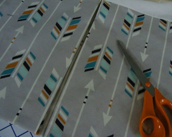 Baby Bedding Crib Skirt 15''  /   Lined   PREMIUM Greige / Grey Teal Cream BlackArrow Woodland Fabric