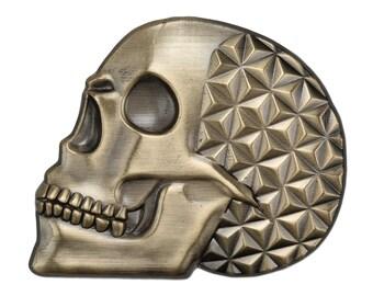 Asanoha Skull (antique gold)
