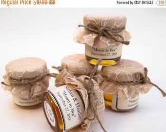 SALE ends Sunday Wedding Favor Mini Mason Jar Sample Jars (pick 5 flavors)