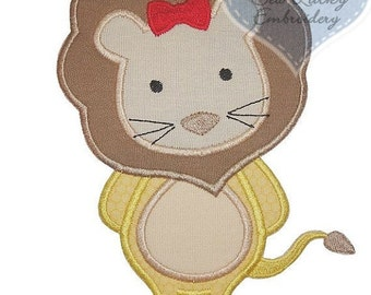 Cowardly Lion Applique Embroidered Patch , Sew or Iron on