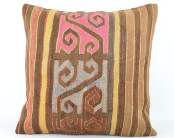 Kilim pillow, Kilim Pillow Cover mkp642, Turkish Pillow, Kilim Cushions, Bohemian Decor, Moroccan Pillow,  Bohemian Pillow