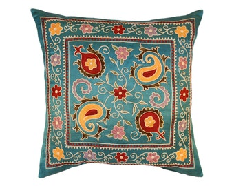 Silk Handmade Suzani Pillow Cover, msp782, Suzani pillows