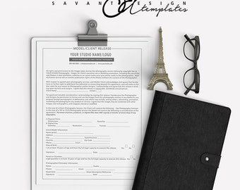 Model Release Photography Template, Photoshop Templates, Business Forms, Contracts,  PB101MR, INSTANT Download