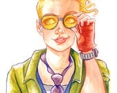 Holtzmann is our Pal Drawing Art Print