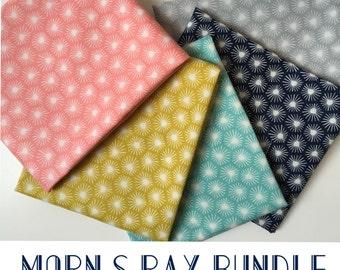 ORGANIC Morn's Ray Fabric HALF YARD Bundle from  Cloud 9 Fabrics - 2.5 Yards Total