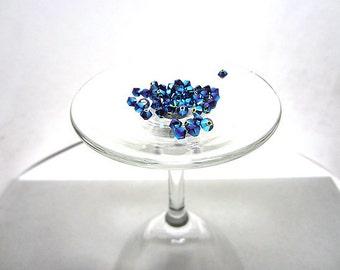 60 Pc. Swarovski Crystal Bicone 4mm Beads Garnet AB2X