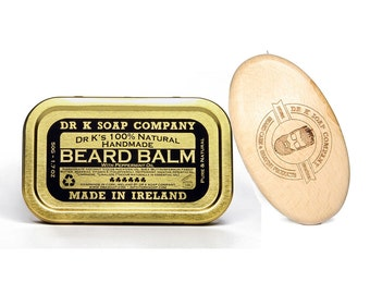 Beard Balm and Brush Set, All Natural Beard Care Products, Handmade in Ireland