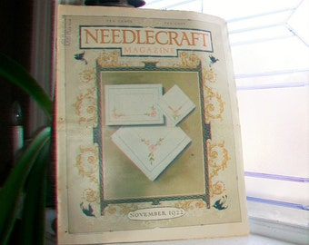 1922 Needlecraft Magazine November Issue with Large Cream Of Wheat Ad Vintage 1920s Sewing