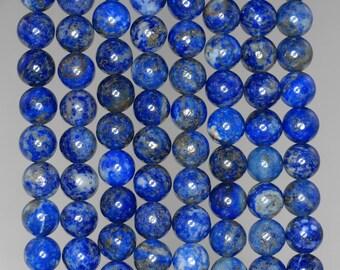 6mm Lapis Lazuli Gemstone Blue Round Loose Beads 15.5 inch Full Strand (90186987-805)