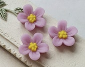 13 mm Opera-mauve Colour Water Melon Resin Flower Cabochons (.sg)(zzb)