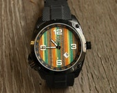 Gifts for Men - Recycled Skateboard Watch - Second Shot Skate Watch, Made in Canada